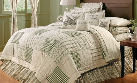 groupon daily deal - Hand-Quilted Bedroom Sets. Multiple Designs and Sizes.