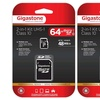 Gigastone MicroSDXC 64GB Card with SD Adapter (2-Pack)