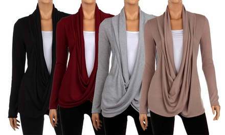 Full Hacci Women's Criss Cross Cardigan