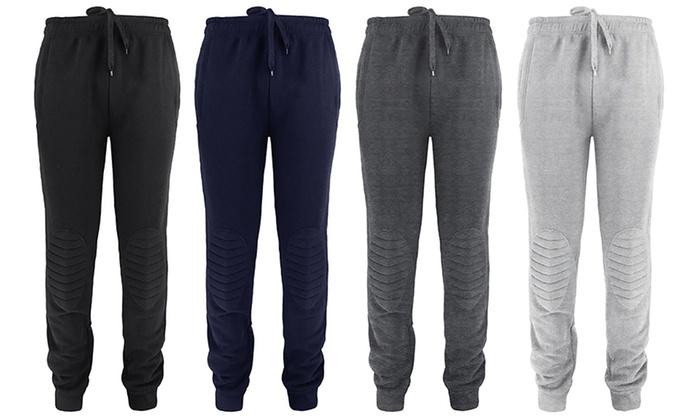 Men's Fleece Padded Knee Joggers