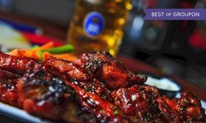 Village Idiot Pub: Pub Food and Drinks at Village Idiot Pub (Up to 50% Off). Two Options Available.