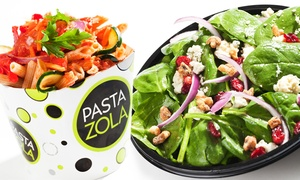 Pasta Zola: Pasta, Flatbreads, and Salads at Pasta Zola (40% Off). Two Options Available.