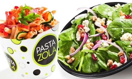 Pasta, Flatbreads, and Salads at Pasta Zola (40% Off). Two Options Available.