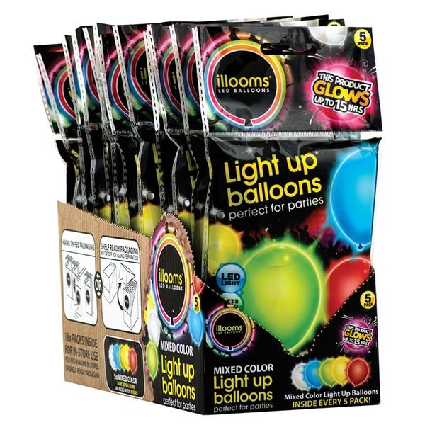 LED Light Up Balloons 1 5 Or 15 Pack