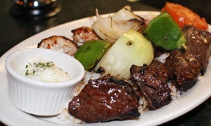 Byblos Bar & Grill: Lebanese Food for Two or Four at Byblos Bar & Grill (40% Off)