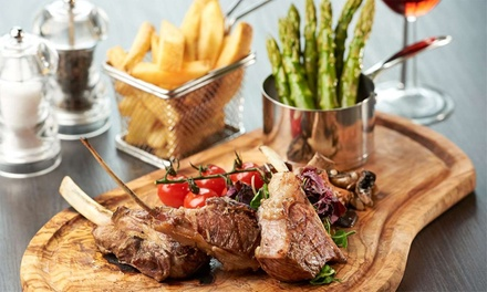 TwoCourse Meal with Glass of Wine for Two at Hilton London Docklands Riverside Hotel