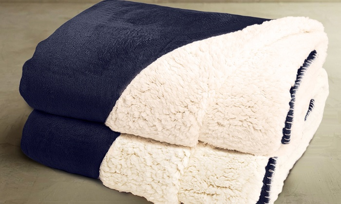 2-Pack of Reversible Sherpa Throws: 2-Pack of Reversible Sherpa Throws. Multiple Styles Available. Free Returns.