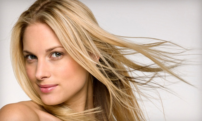 The Cutting Edge Salon - Multiple Locations: Cut, Deep Conditioning, and Style with Optional Full Highlights at The Cutting Edge Salon in Appleton (Up to 60% Off)