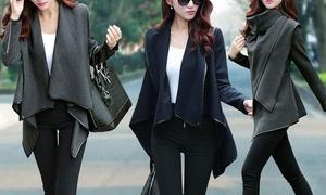 Ladies' Wool Blend Wrap Coat