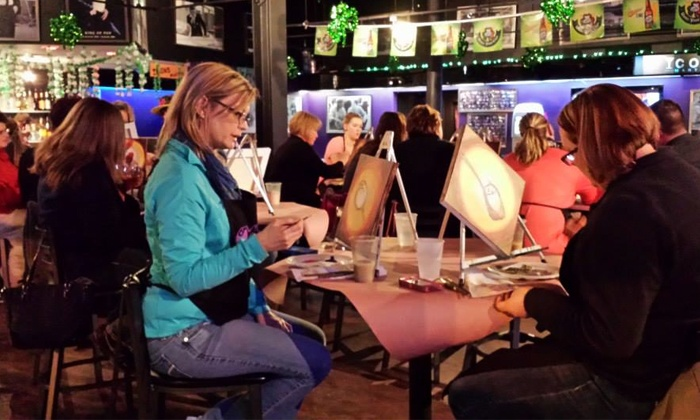 Vino van Gogh: Two-Hour Social Painting Event for One, Two, or Four at Vino van Gogh (Up to 47% Off)