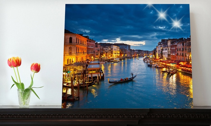 """16""""x20"""" Custom Photo on Metal: $39 for a Custom Photo on Metal from Picture It On Canvas ($139 List Price). Free Shipping."""