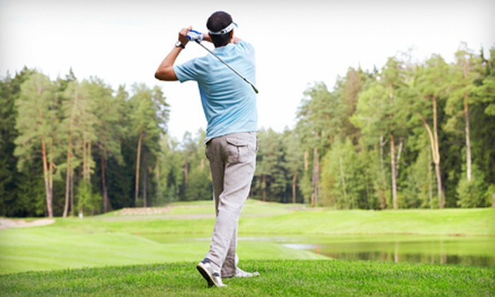 Whispering Woods Golf Club - Whispering Pines: Round of Golf, Dozen Golf Balls, and Demo Fairway Wood for One or Two at Whispering Woods Golf Course (Up to 72% Off)