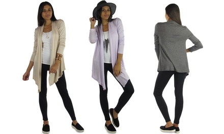 Free to Live Women's Open-Front Cardigan