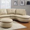 Beige Leather Sectional Sofa Groupon Goods