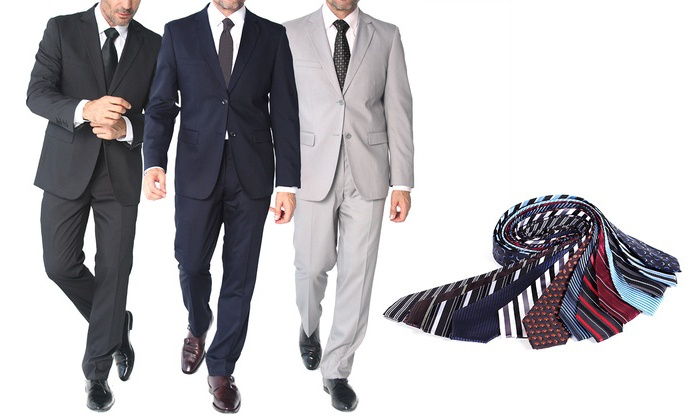 Braveman Slim Fit Suits (2-Pc.) | Groupon Goods
