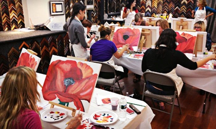 Picture Framing Outlet - Hanover: Two-Hour BYOB Painting Class for One or Two at Art Uncorkd (Up to 62% Off)