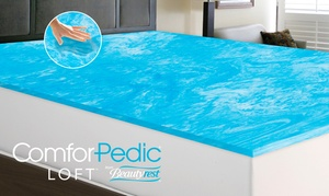 "Comforpedic Loft Gel Memory Foam 1"" Mattress Topper From $39.99-$69.99"