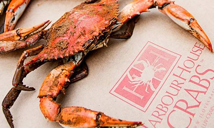 $25 for $50 or $45 for $80 Worth of Maryland Blue Crabs, Shrimp, and Premium Seafood from Harbour House Crabs