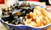 Moules Frites with Prosecco and Chips for Two or Four at Falmouth Bay Seafood Café (Up to 49% Off)