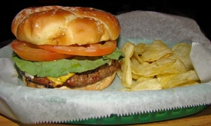 Cheers Bar & Grill: Burgers or Chicken Sandwiches and Beers for 2 or 4, or $11 for $20 Worth of Food and Drink