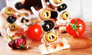 Koch & Kunst Oase: Tapas All-you-can-eat inkl. Vorspeise und Dessert für Zwei, Vier oder Sechs in der Koch & Kunst Oase in Marl ab 13,90 €
