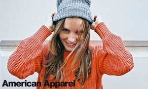 American Apparel: Clothing and Accessories In-Store and Online from American Apparel (50% Off). Four Options Available.