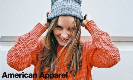 Clothing and Accessories In-Store and Online from American Apparel (50% Off). Four Options Available.