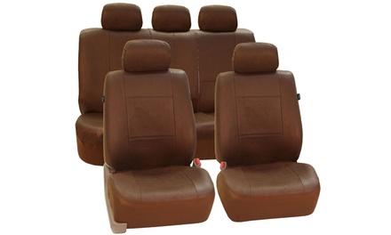 Brown Antique-Style Full Car Seat Cover Set