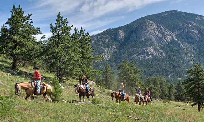 SK Horses in Estes Park - Multiple Locations: Two-Hour Horseback Trail Ride for One or Two from SK Horses in Estes Park (Up to 47% Off)