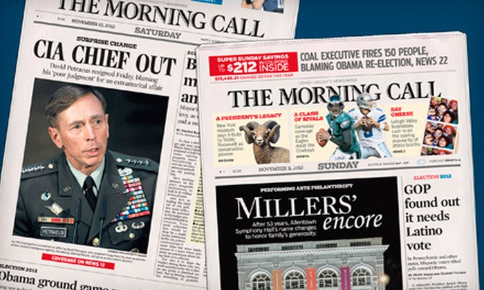 """The Morning Call"" - Allentown / Reading: $10 for a One-Year Weekend Subscription to ""The Morning Call"" ($129.48 Value)"