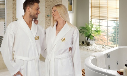 Luxury 100% Turkish Cotton Bathrobe with Optional Monogram from $35.99–$39.99
