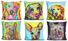 Decorative Pop-Art Dog Throw Pillow by Dean Russo