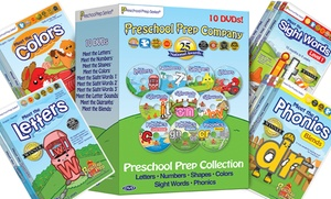 Preschool Prep 10 DVD Reading Set – Basics, Sight Words & Phonics