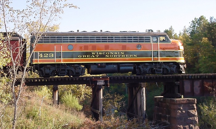 Wisconsin Great Northern Railroad - Trego: $199 for a Dinner-Train B&B Package for Two from Wisconsin Great Northern Railroad ($299 Value)