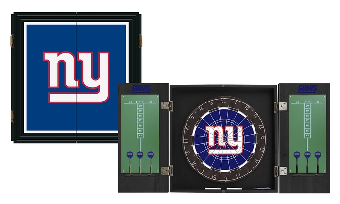 New York Giants Extreme Fan Dart Cabinet Set: New York Giants Extreme Fan Dart Cabinet Set