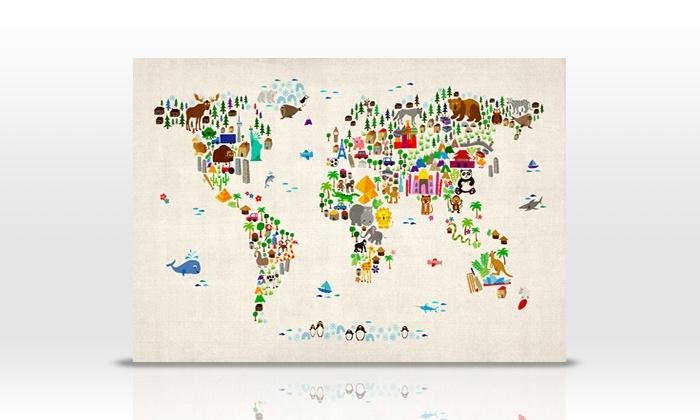 Tier-Weltkarte für Kinder | Groupon Goods