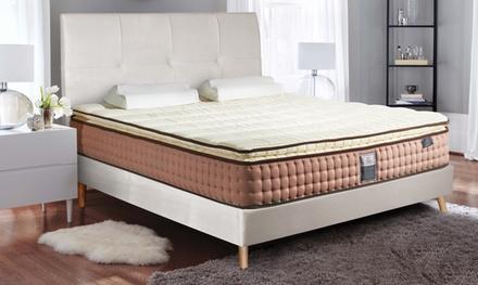 Matelas Chambord Marque Sampur ressorts ensachés, accueil mémoire de forme, avec lit en option