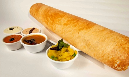Indian Meal for Two or Four with Dosas, Wine, and Desserts at Bawarchi Dosa (Up to 44% Off)