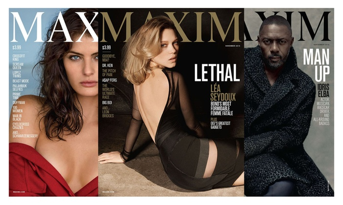 Blue Dolphin Magazines: One- or Two-Year Subscription to Maxim Magazine (Up to 75% Off)