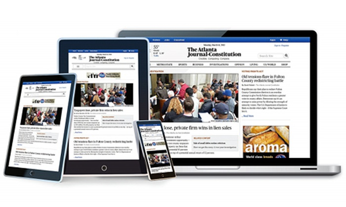 "The Atlanta-Journal Constitution: $9.99 for a Two-Month Digital Subscription to ""Atlanta Journal-Constitution"" ($19.98 Value)"
