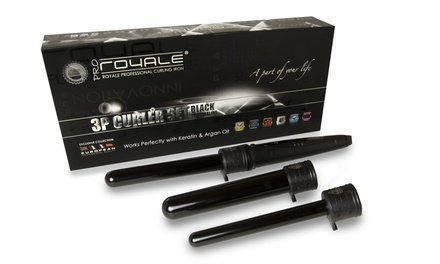 Royale Pro 3-in-1 Tourmaline Ceramic Curler Sets