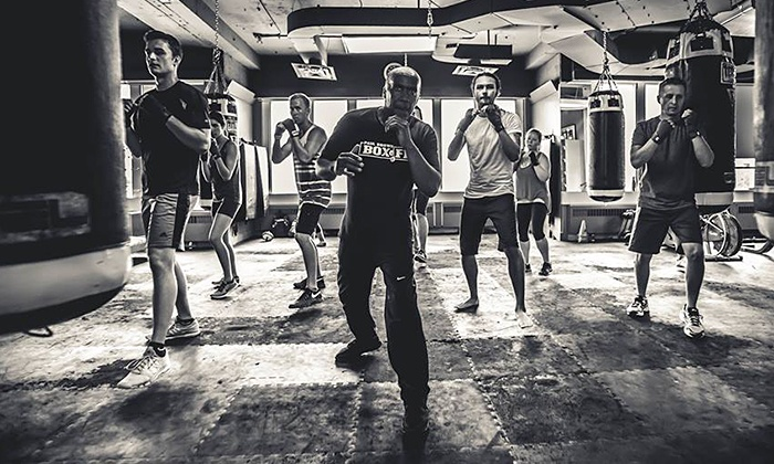 Paul Brown Boxfit - Paul Brown Boxfit: 5 or 10 Intro Boxing or Muay Thai Group Classes or One Month of Classes at Paul Brown Boxfit (Up to 70% Off)