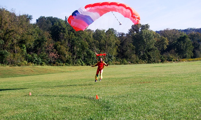 Blue Ridge Skydiving Adventures - New Market: $389 for an Solo Parachute Adventure for Two from Blue Ridge Skydiving Adventures ($630 Value)