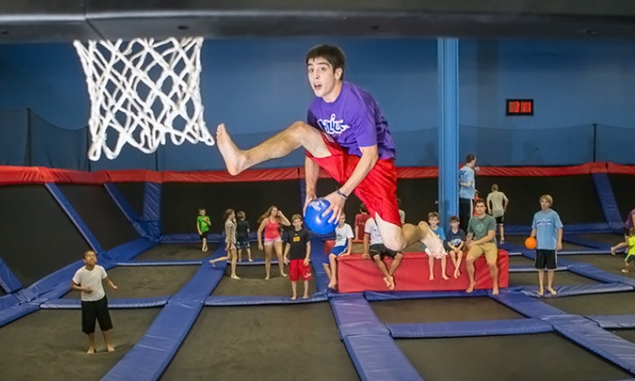 Helium Trampoline Park - New Berlin: One-Hour Pass for Two, or Birthday Party for 10 at Helium Trampoline Park (Up to 46% Off)