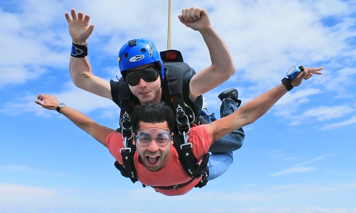 """Westside Skydivers - Winsted: $159 for a """"Shove Your Love"""" Tandem-Skydive Jump from Westside Skydivers (Up to $229 Value)"""