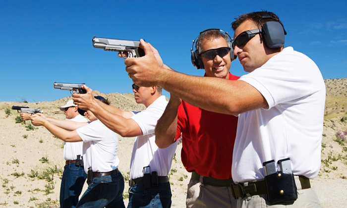 Texan Defender - Old Town District: Two-Hour Beginner Pistol Class with Gun Rental and Ammo for One, Two, or Four at Texan Defender (Up to 54% Off)