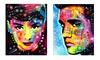 Dean Russo Celebrity Pop-Art Prints: Dean Russo Celebrity Pop-Art Prints. Subjects Include Marilyn Monroe, Angelina Jolie, and Jimi Hendrix.