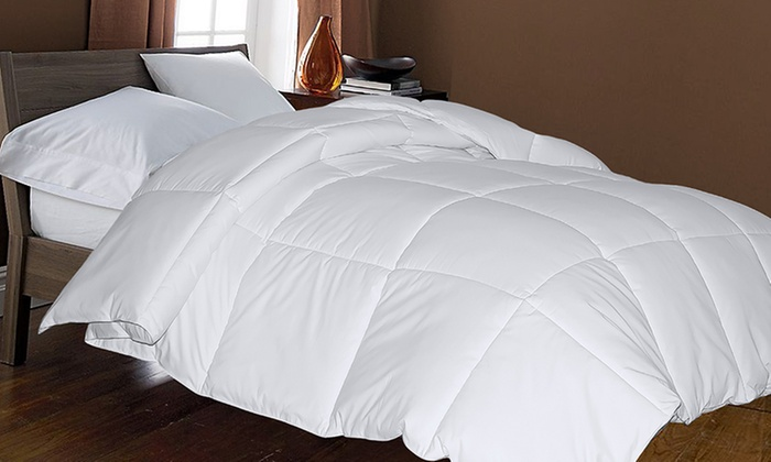 Hotel Suite White Goose Down And Feather Comforter Groupon