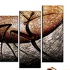 Multi-Panel Hand-Painted and Textured African Paintings