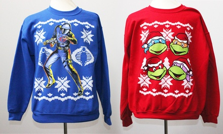 Cobra Commander, Optimus Prime, Teenage Mutant Ninja Turtles, or Star Trek Ugly Christmas Sweater. Free Returns.